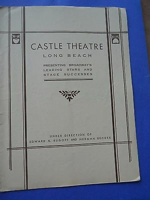 August 21 - 1933 - Castle Theatre Playbill - There's Always Juliet