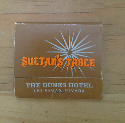 MATCHBOOK - DUNES HOTEL AND CASINO - SULTAN'S TABLE - Las Vegas, NV  (1338)