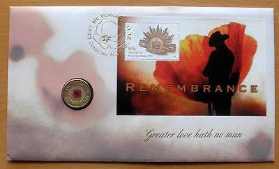 Australian Remembrance Poppy - 2012 Pnc Stamp And $2 Coin Covers- C Mintmark