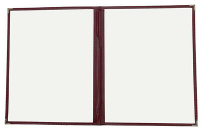 "25pcs Restaurant/Cafe Menu Covers,  8.5""x11"" Double Page 4 Views, Burgundy 2RD"