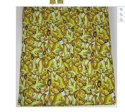 The Lion King Fabric 1m x 1.47m Poly Cotton