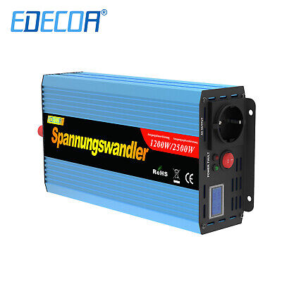 1200W/2500W Power Inverter 12V 230V Convertitore Con Softstart funzione