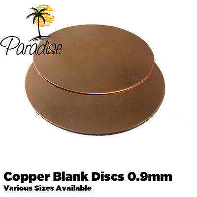 Copper Blank Discs 0.9mm Thick For Enamelling Jewelery Crafts Hobbies