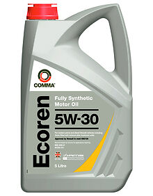 Comma Ecr5L 5L Ecoren 5W30 Fully Synthetic High Performance  Engine Oil