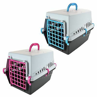 Luxury Large Plastic Pet Carrier Dog Puppy Cat Kitten Transport Lightweight Box