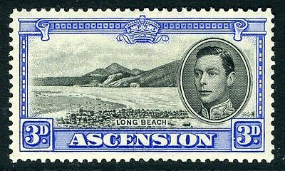 ASCENSION-1938-53 3d Black & Ultramarine Sg 42 MOUNTED MINT V12074