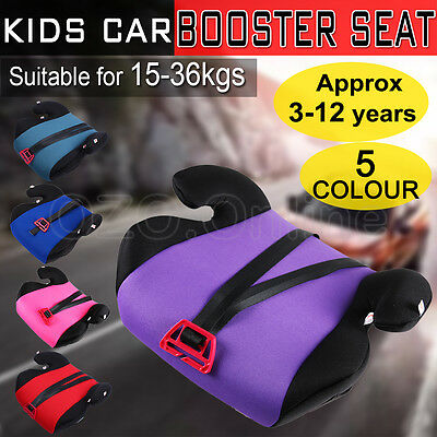 Car Booster Seat  Safe Safety Sturdy Baby Child Kid Children Fit 3 To 12 Years