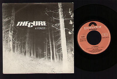 "7"" Cure A Forest / Another Journey By Train Robert Smith Italy 1980 Near Mint"