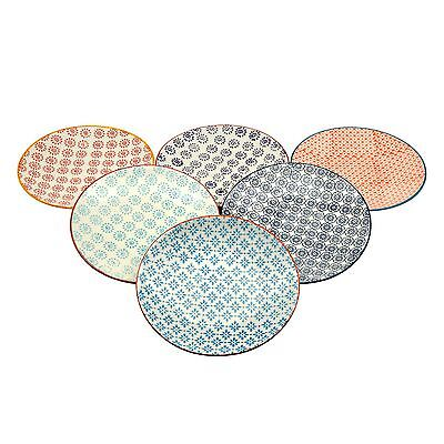 Patterned Side / Dessert Plates - 180mm (7 Inches) - 6 Designs - Box Of 6