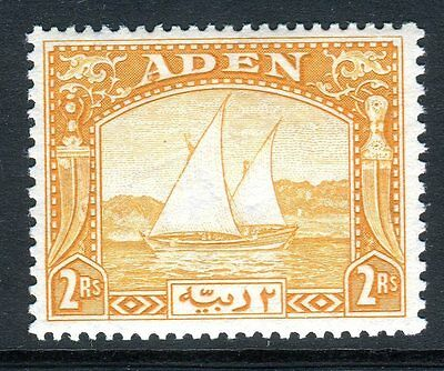 ADEN-1937 2r Yellow.  A lightly mounted mint example Sg 10