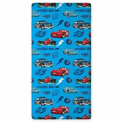Disney Cars Single Fitted Sheet - 100% Cotton - Kids Bedding New