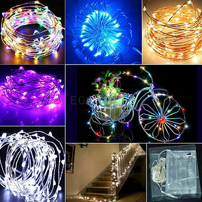 2M 20 LED Battery Operated Mini LED Copper Wire String Fairy Lights Decor 6.5FT