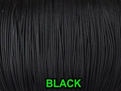 10 YARDS: BLACK 1.8 MM Professional Braided Nylon Lift Cord For Blinds & Shades