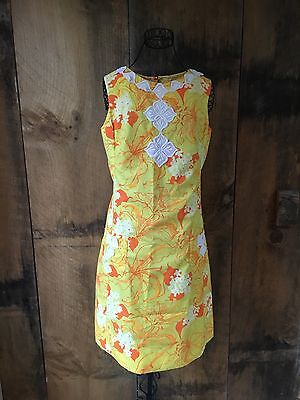 b84258ca754f Vintage The Lilly Pulitzer 60s 70s Shift Dress OrangeYellow Floral Dress  Size 8
