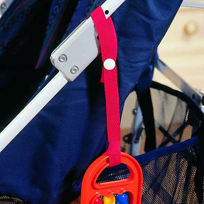 Clippasafe Buggy Toy Ties Straps Stroller Pram Pushchair 2 Pack
