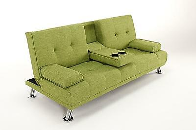 The Harlow 2 Seater Fabric Cinema Style Lounge Sofa Bed - Living Room Furniture