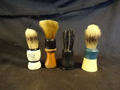 Old Vtg Collectible Men's Shaving Brushes LOT of 4 Strong Set Ever Ready Wood