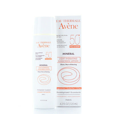 Avene Mineral Light Hydrating Sunscreen Lotion SPF 50+ (Face and Body) 4.2oz/125