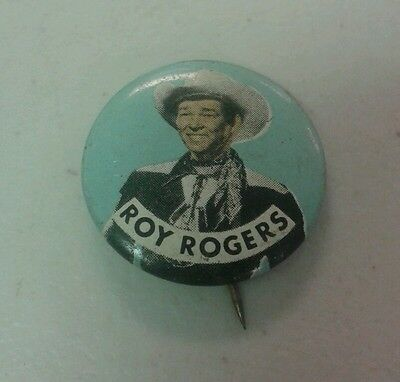 Vintage Rare Roy Rogers Cowboy Pin Old Western Accessories Tin Pinback Button