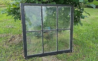 VINTAGE SASH ANTIQUE WOOD WINDOW RUSTIC PICTURE FRAME 55in x18.5in No Glass