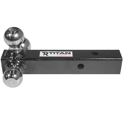 """Titan Triple Ball Trailer Hitch Mount for 2"""" Class III/IV Receiver Truck Towing"""