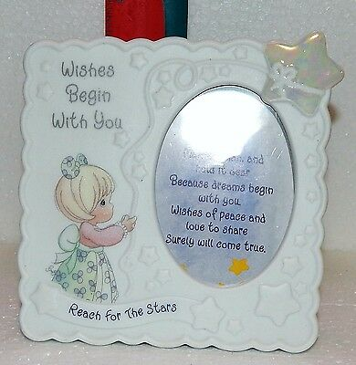 Precious Moments Wishes Begin With You-Reach For The Stars Porcelain Frame