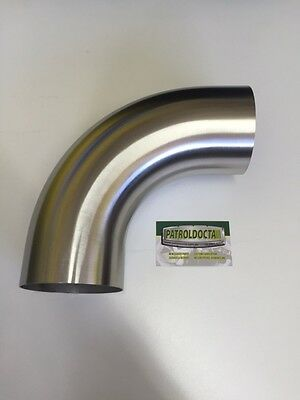 Stainless steel 4 inch 90 degree bend 4x4   exhaust  snorkel