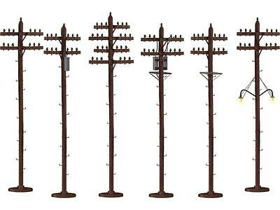 American Flyer By Lionel- 49872- Set Of 6 Telephone Poles- New-