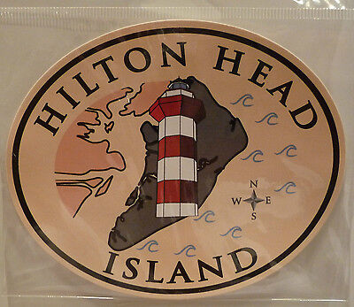 Hilton Head Island w/ Famed Harbourtown Lighthouse Sticker