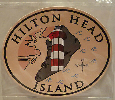 Wholesale Pack of 50 Hilton Head Island w/ Harbourtown Lighthouse Stickers NEW
