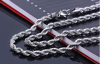 Lot of 20pcs Rope twist chain Stainless Steel necklace Men's jewelry silver 22''