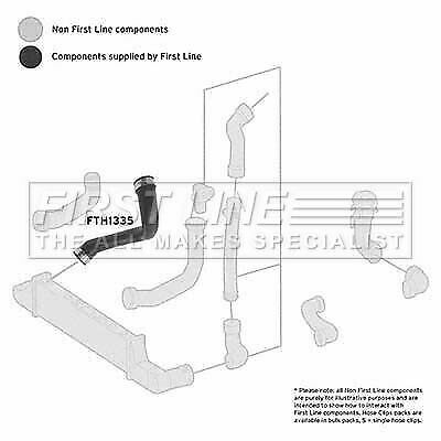 FIRSTLINE FTH1335 TURBO HOSE fit Mercedes 210 E220 CDi 95-03