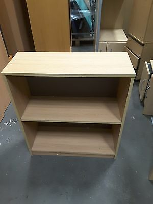 Office Bookcase in Oak with Fixed Shelf