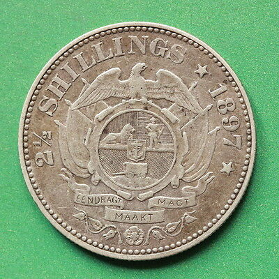 1897 South Africa Silver Half-Crown SNo42262