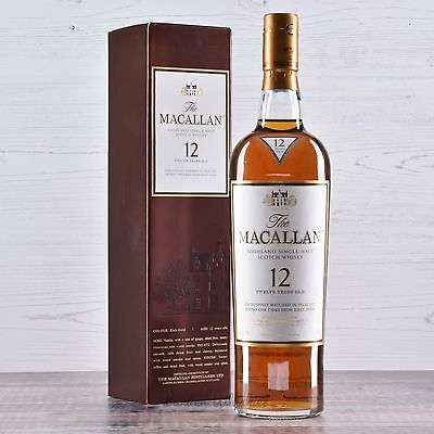 Macallan 12 Year Old Sherry Matured Single Malt Scotch Whisky, 750ml 43%!