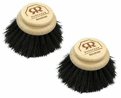 Replacement Brush Head For Large Natural Bristle Dish Soft Horsehair Pack of 2