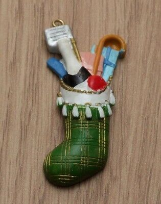 1:12 Dolls House Green Christmas Stocking