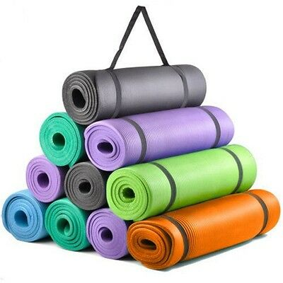 Yoga Mat Exercise Fitness Workout Mat Non Slip Extra  High QualityThick 10mm