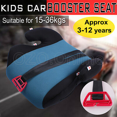 Kids Car Booster Seat Safe Sturdy Baby Children Child Fit 3 To 12 Years Green AU
