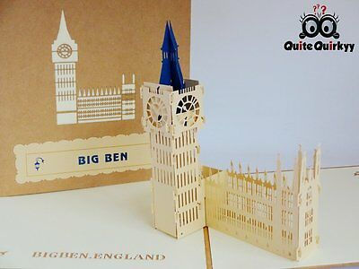 All occassions Big Ben 3D Pop-up Greetings Card