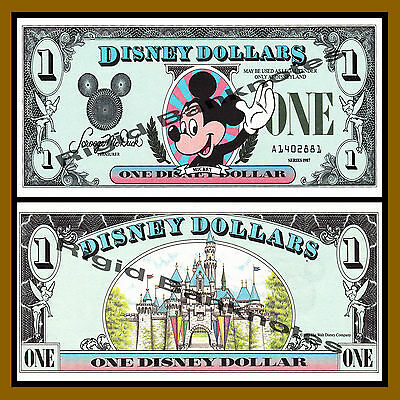 """Disney 1 Dollar, 1987 Series """"A"""" Mickey First Issue Uncirculated"""