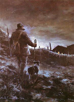 BORDER COLLIE WORKING SHEEPDOG LIMITED EDITION PRINT by the late Mick Cawston