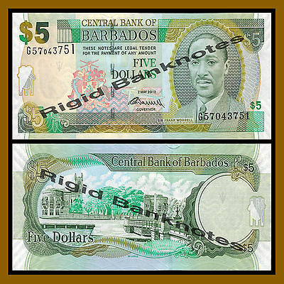 Unc Barbados 2012 Real Foto P-66c 2 Dollars