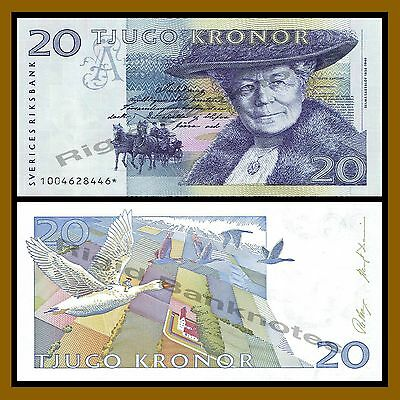 Sweden 20 Kronor, 1991 P-61r Replacement (Star*) Nils by Selma Lagerlöf Unc