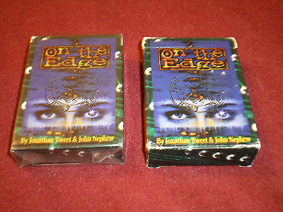 2 On the Edge starter decks - 1 sealed - Limited edition  ( Over the Edge RPG )