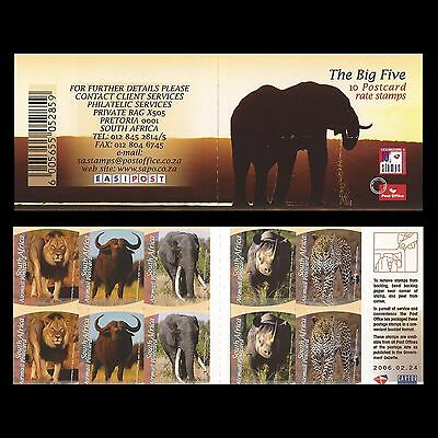 South Africa 2006 Big 5 booklet. MNH