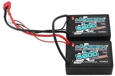nVision Factory Pro Lipo 5800 100C 7.4V 2S Saddle Pack Deans / NVO1123