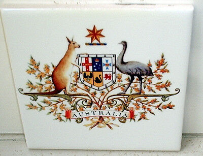 Australian Coat of Arms ~Crest~ King Edward VII~CERAMIC wall TILE