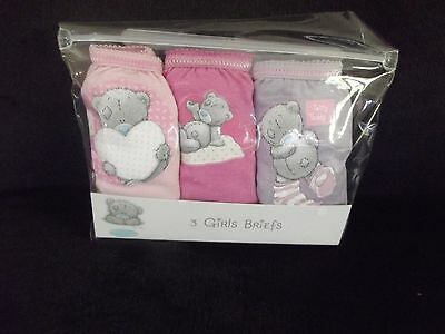 Bnip Tatty Teddy Me To You  Pack Of 3 Cotton Knickers Ages 3-8 Years