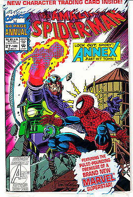 AMAZING SPIDERMAN ANNUAL 27...NM-...1993...Polybagged with Card!...Bargain!